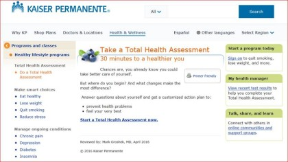 Kaiser Health Assessment
