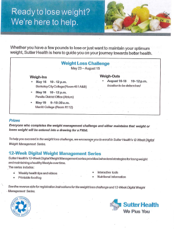 SUTTER HEALTH 2016-Weight-Loss-Competition Flier
