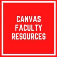 Canvas Faculty Resources