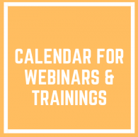 Calendar for webinars and trainings