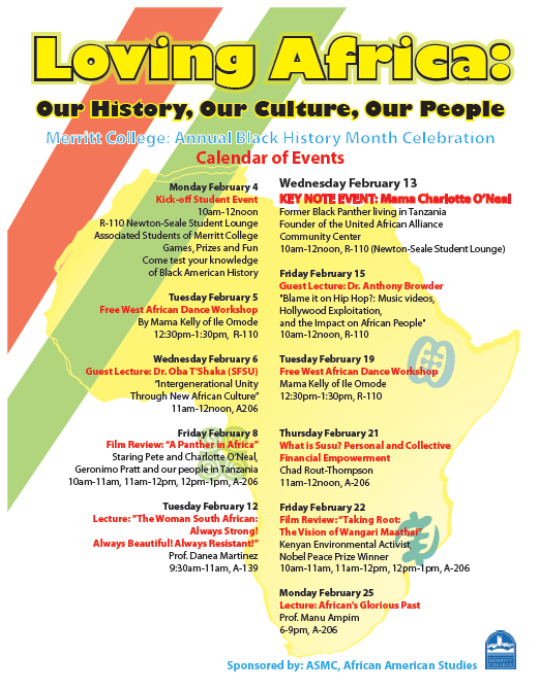 Black History Month: Merritt College - Loving Africa!