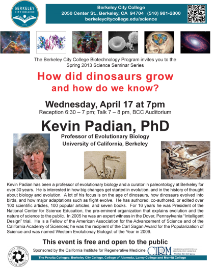 Kevin Padian on Dinosaur Growth and Evolution