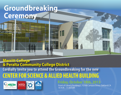 Merritt Allied Health Building Groundbreaking Invite 10-18