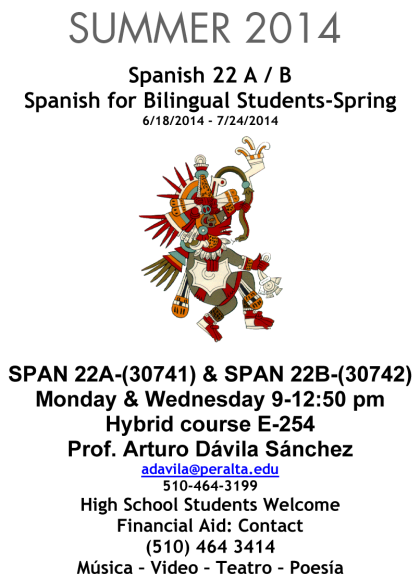 SPANISH FOR BILINGUAL STUDENTS-SP-SUMMER-2014