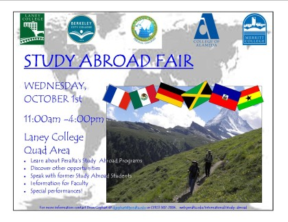 Study Abroad Fair Flyer (October 1st at Laney)