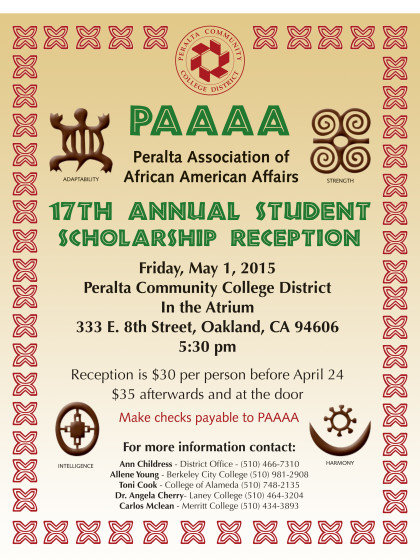 PAAAA 2015 Scholarship Reception