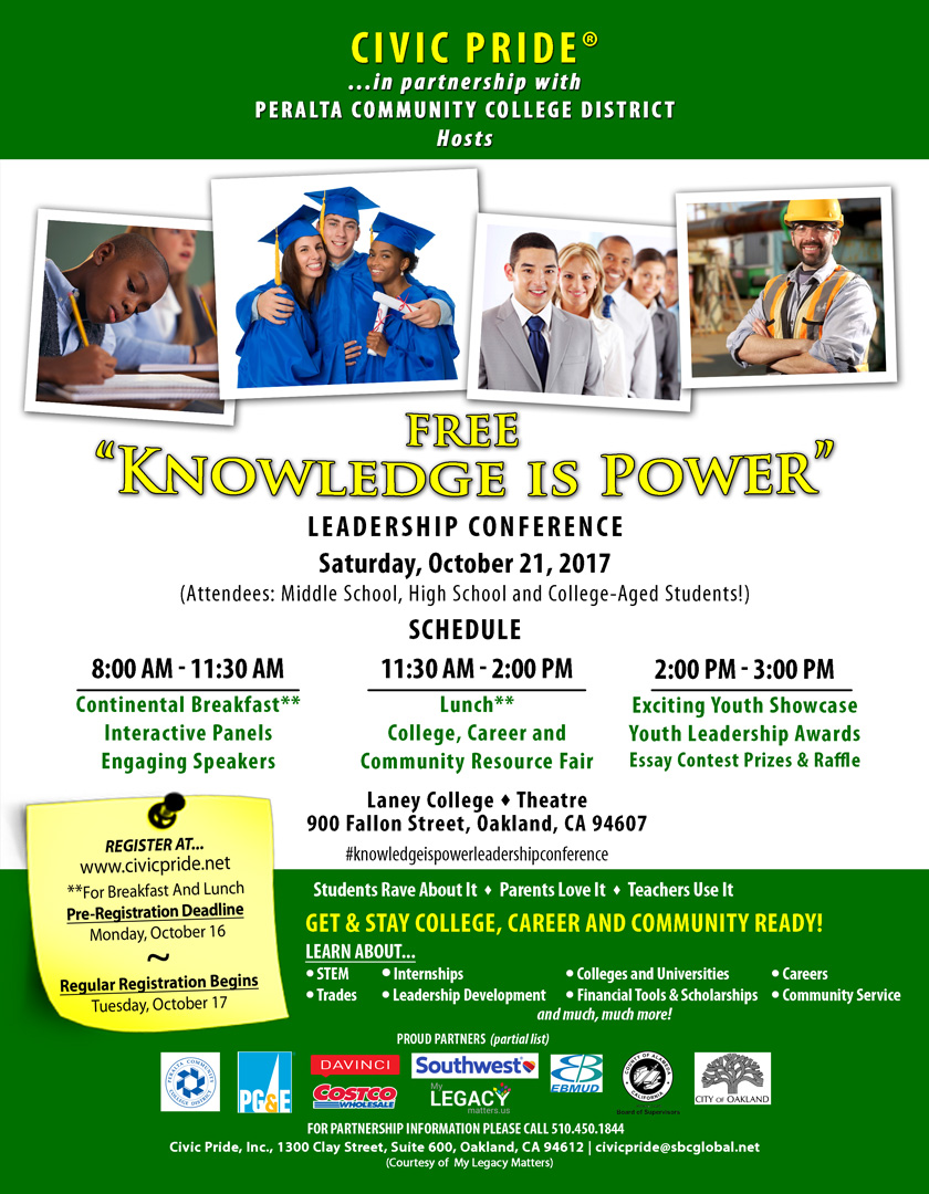 """Knowledge is Power:"" Free Leadership Conference"