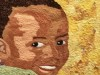 A detail is shown from one of the African American Quilt Guild of Oakland's handmade quilts that will be on display at Laney College throughout February in honor of Black History Month.