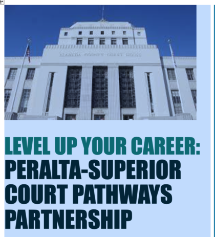 Peralta partners with the Superior Court of Alameda County