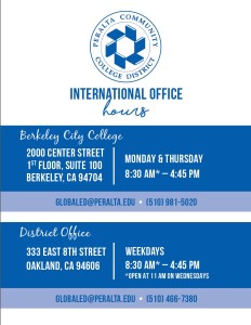 Fall 2017 - International Office Hours