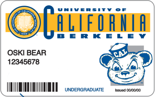 Cal Student ID Card