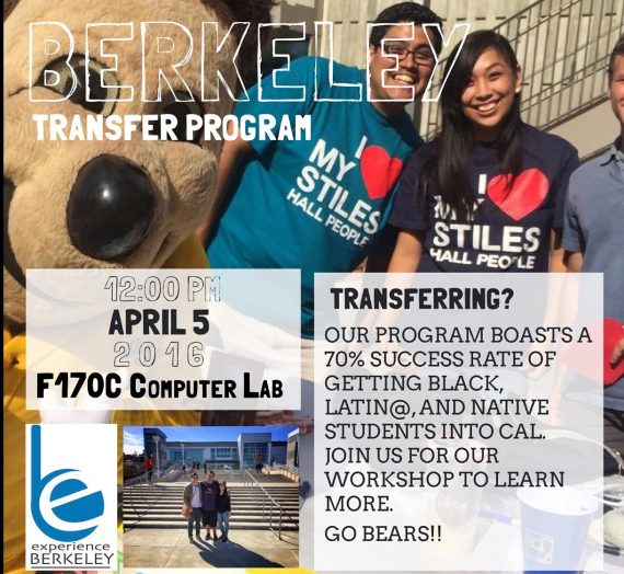 The Experience Berkeley Transfer Program Workshop at Laney College