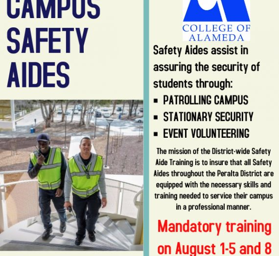 Now Hiring Campus Safety Aides for College of Alameda