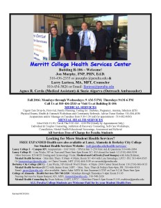 MC Fall 2016 Hours -Student Health Center  (1)