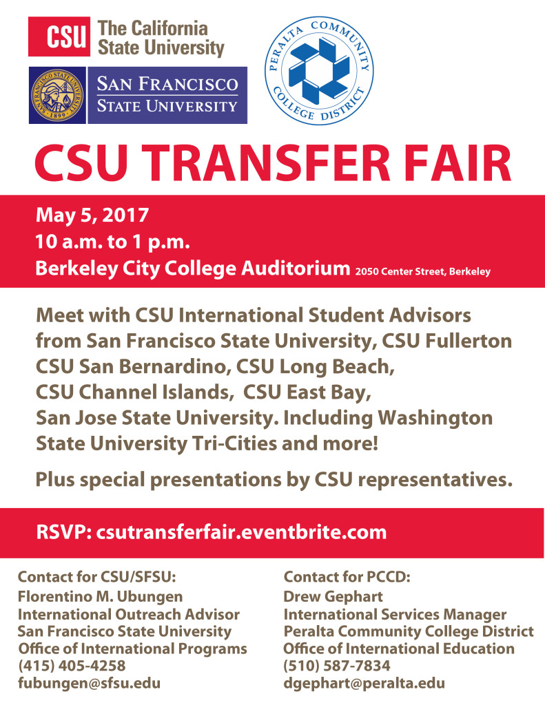 CSU Transfer Fair 2