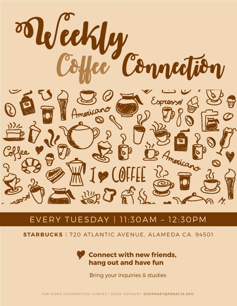 Weekly Coffee Connection in Alameda (Every Tuesday)