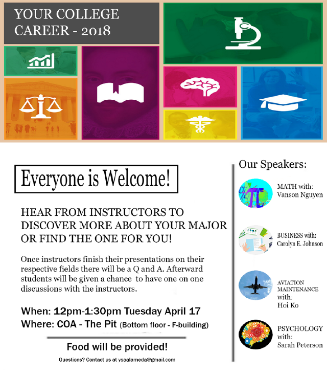 College Career Event at COA (4-17-18)