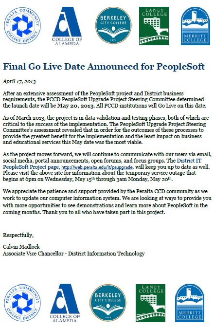 Final Go Date Announced for PeopleSoft
