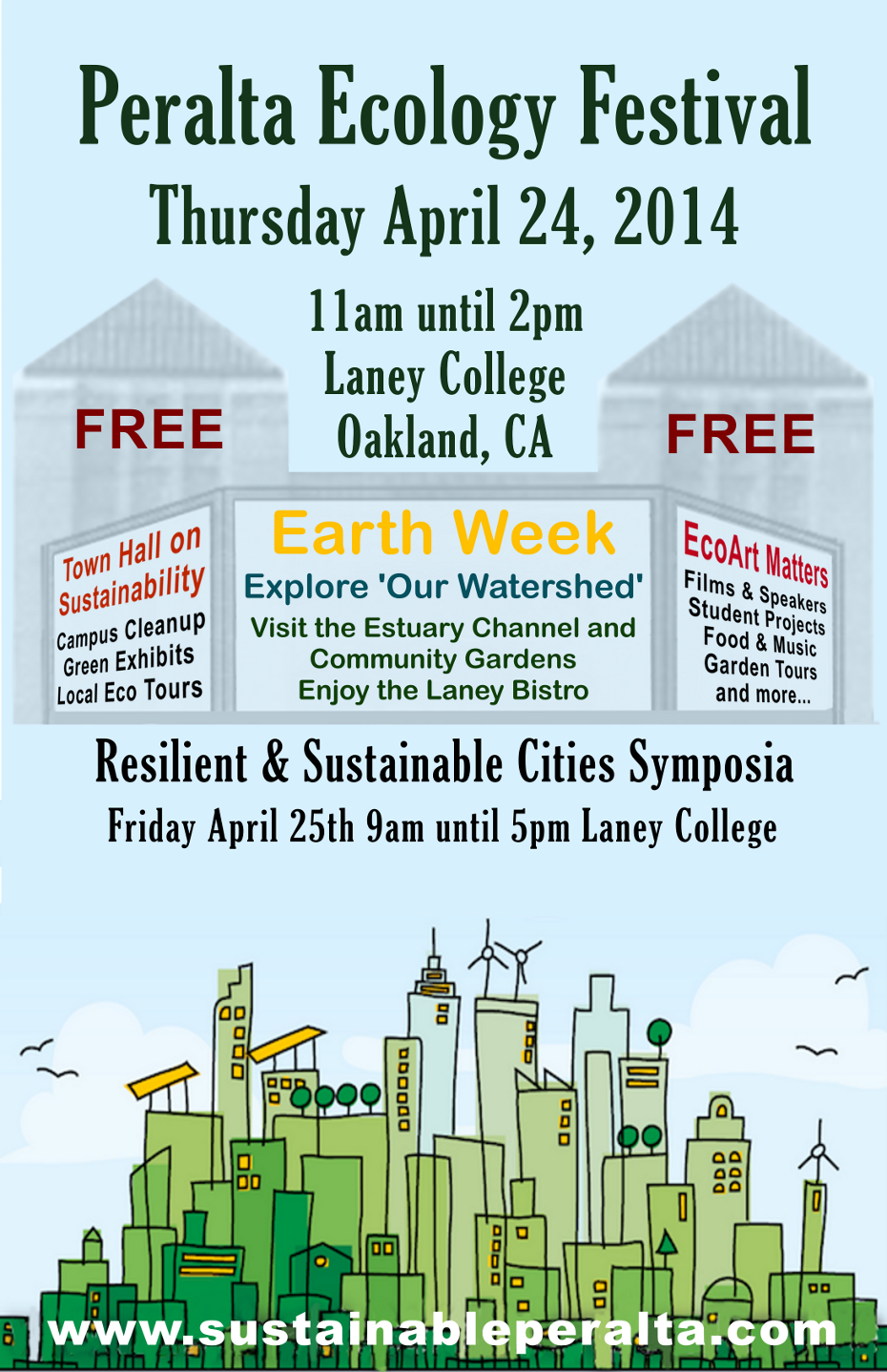 Peralta Ecology Festival Thursday April 24th at Laney College